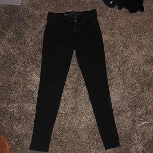 High Rise American Eagle Black Skinny Jeans